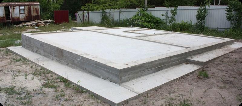 Фундамент ленточно-столбчатый с утепленной стяжкой, канадская технология Киев
