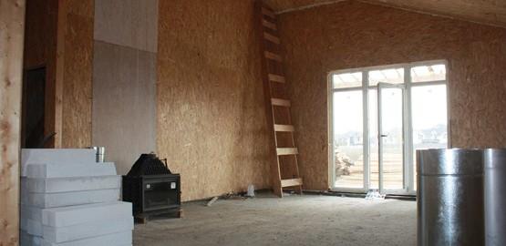 Канадский дом внутри без отделки