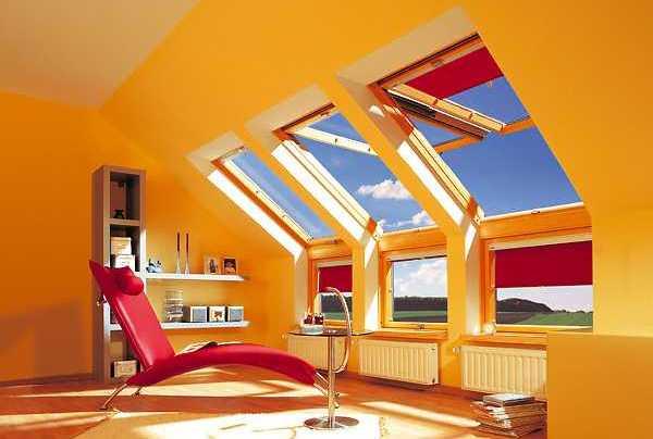 Пример использования мансардных окон в доме