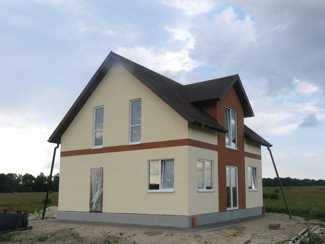 Дома с мансардой из СИП-панелей по канадской технологии, 116 м2