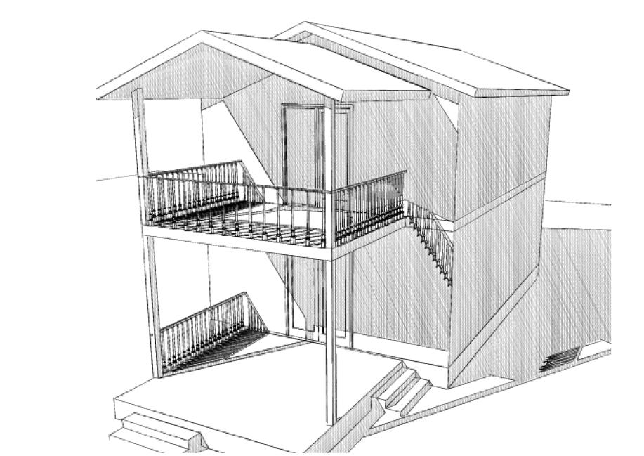2-х этажный дом с балкончиком из СИП-панелей по Канадской технологии, 98 м2