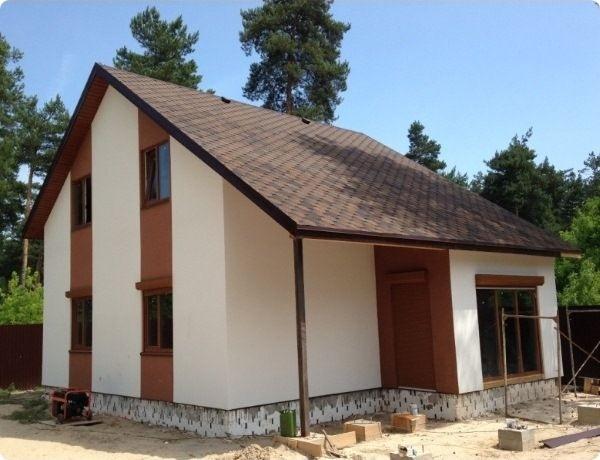 Двухэтажный дом с мансардой из СИП-панелей по Канадской технологии, 117,5 м2