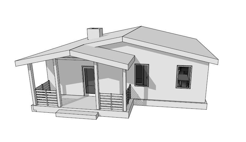 Дом 85м2 в перспективе