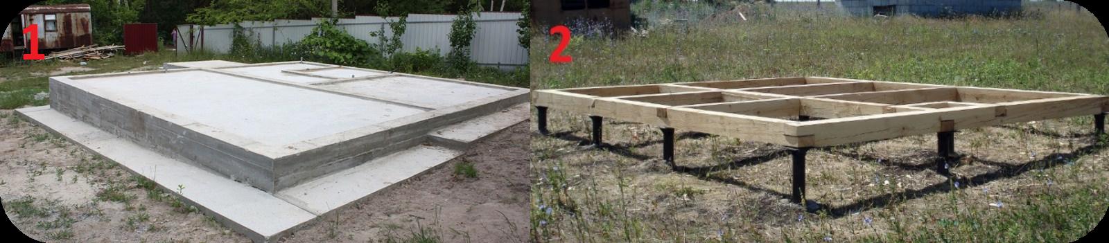 Два вида фундаментов в Канадских домах из СИП-панелей