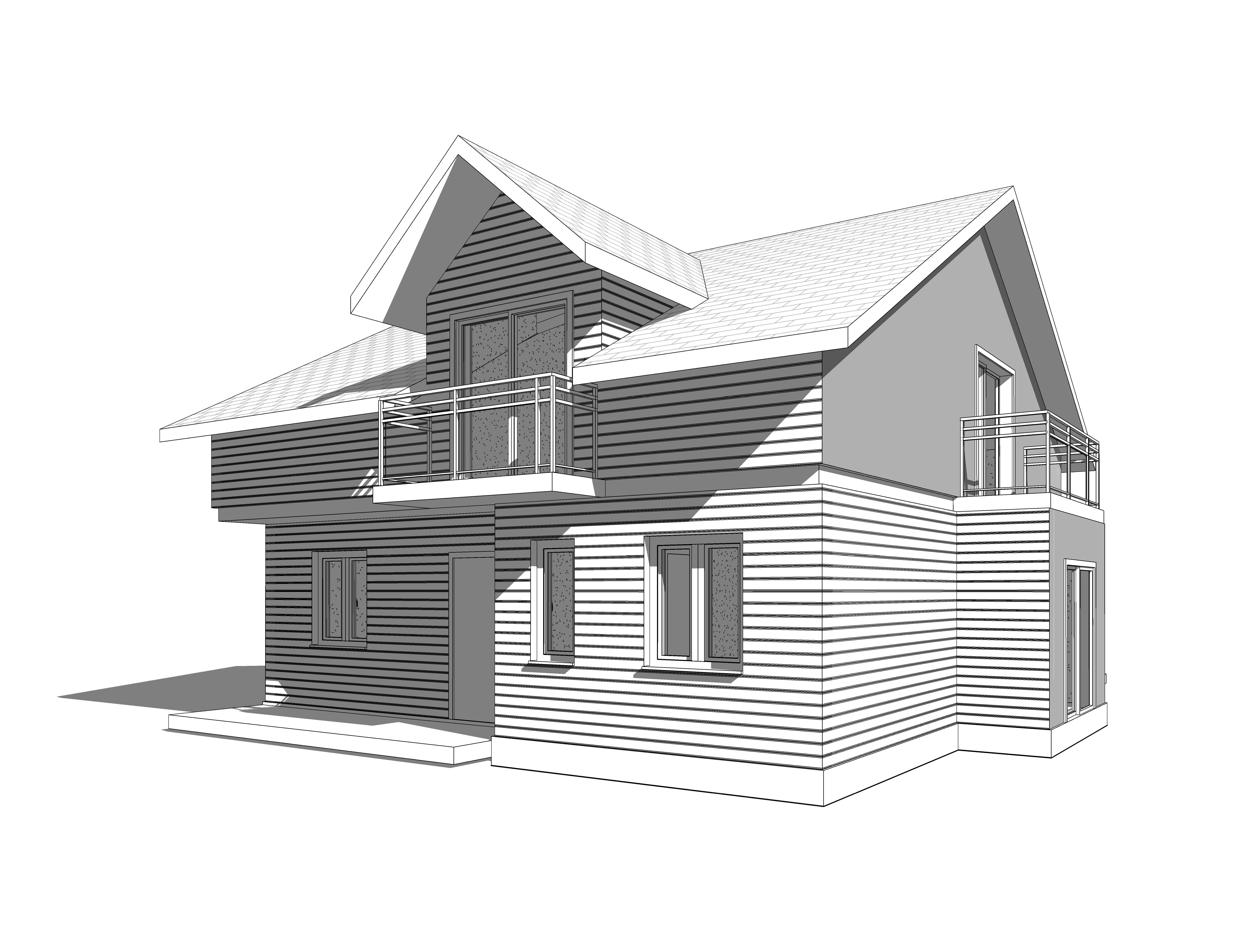 Модель каркасного дома