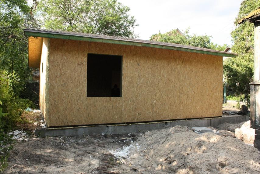 Дом из СИП панелей со стороны
