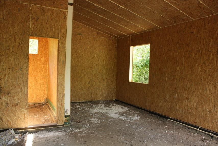 Фото дома из СИП-панелей изнутри