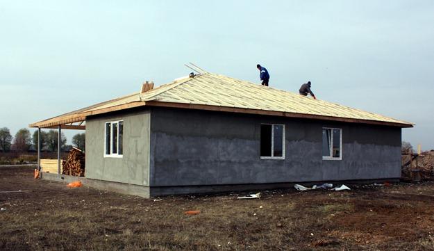 Готовый дом без фасада и кровли