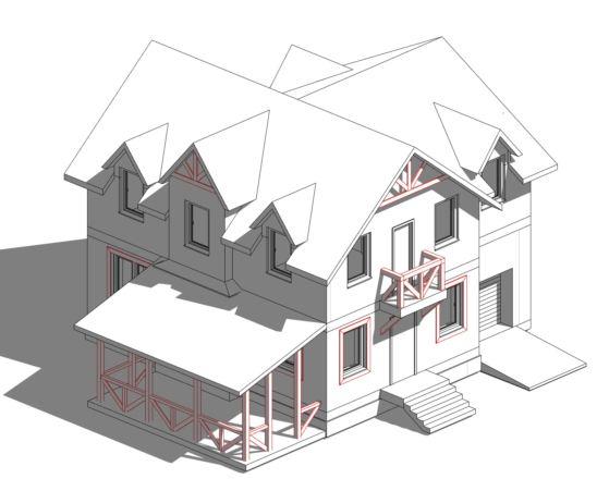 Прекрасный пример Канадского дома из СИП панелей